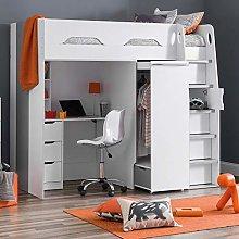 High Sleeper Storage Bed, Happy Beds Pegasus Wood