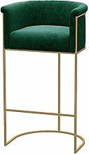 High stool chair Modern Bar Chairs Backrest Velvet