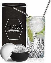 Highball Glass Mixer Set with Mega Ice Ball Mould