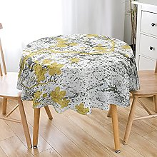 Highdi 3D Round Tablecloth Wipe Clean, Flower