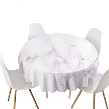 Highdi Round Tablecloth Wipe Clean, 3D Marble