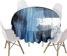 Highdi Round Tablecloth Wipe Clean, 3D Print