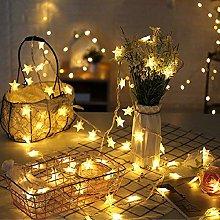 Highill Stars Fairy String Lights Battery Powered