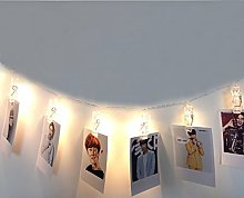Highill USB Photo Clips Pegs String Lights 5M 30