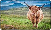 Highland Cow in Isle of Skye Indoor Doormat Latex