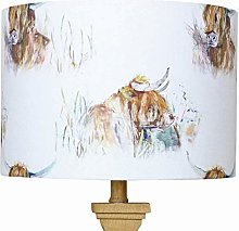Highland Cow Voyage Lampshade (40 cm Diameter x 25