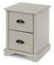 Highland Grey 2 Drawer Compact Bedside Cabinet