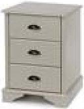 Highland Grey 3 Drawer Bedside Cabinet Light Grey
