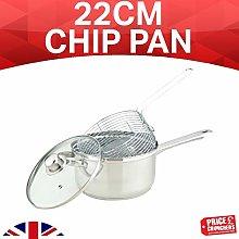 HIGHLANDS 22CM Chip Pan Set Fryer Deep Fat Frying