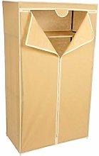 Highliving Canvas Cupboard, Light Brown, W90 x D50