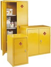 Highly Flammable Storage Cabinets, Yellow, Free