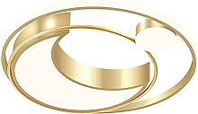 HIL Golden Round Shape Ceiling Light Simplicity