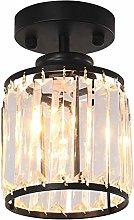 HIL Modern LED Ceiling Lights, Round Flush Crystal