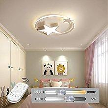 HIL Star LED Ceiling Lamp, White Pink