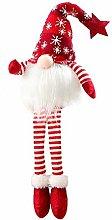 Hilif Christmas Gnomes Plush Knitted Santa Doll