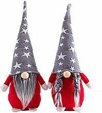 Hilif Christmas Gnomes Plush Knitted Santa Doll,