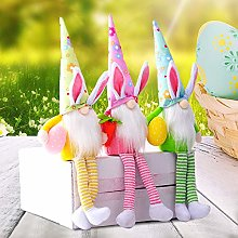 Hilif Easter Rabbit Gnomes Plush Knitted Easter