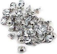 Hilitand 50pc Acrylic Crystal Rhinestone Buttons