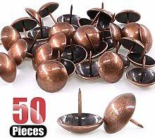Hilitchi 50-Pieces 30mm Antique Red Copper Tacks