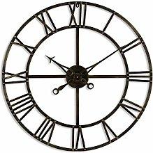 Hill 1975 Antique Brass Skeleton Clock, METAL,