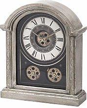 Hill 1975 Antique Silver Mechanism Mentle Clock,
