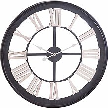 Hill 1975 Black Framed Skeleton Clock With Gold
