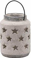 METAL One Size Hill 1975 Ohlson Silver Large Tea Light Lantern Multi-Colour