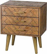 Hill 1975 Havana Gold 3 Drawer Bedside Table,