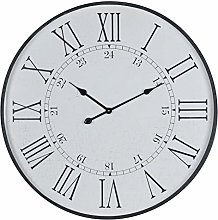 Hill 1975 Large Embossed Station Clock, Wood,