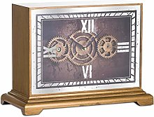 Hill 1975 Mirrored Moving Mechanism Mantel Clock,