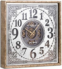 Hill 1975 Mirrored Moving Mechanism Wall Clock,
