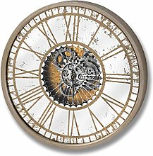 Hill 1975 Mirrored Round Clock with Moving