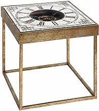 Hill 1975 Mirrored Square Framed Clock Table with
