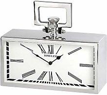 Hill 1975 Silver Pocket Watch Clock, Glass, Metal,
