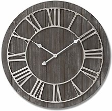 Hill 1975 Wooden Clock with Contrasting Nickel