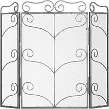 Hill Interiors Large Ornate Fire Screen (One Size)