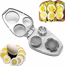 HilMe Egg Slicer Cutter, 3 In 1 Stainless Steel