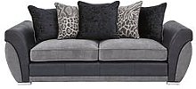 Hilton Fabric And Faux Leather 3 Seater Scatter