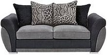 Hilton Fabric And Faux Leather Scatter Back Sofa