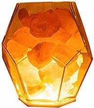Himalayan crystal salt lamp, bedside table lamp