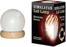 Himalayan Salt Lamp - Sphere: Box Contains a USB
