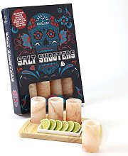 Himalayan Salt Tequila Shot Glass Set With Wooden