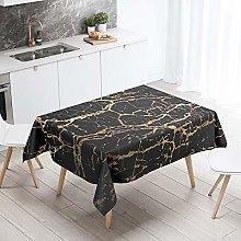 Himlaya 3D Marble Rectangular Tablecloth, Easy
