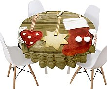 Himlaya Christmas Round Tablecloth for Circular