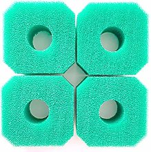 hinffinity Sponge Filters, 4Pcs Washable And