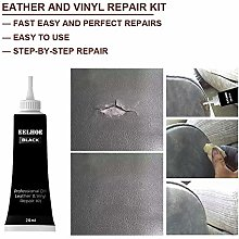 HINK-Home Leather Repair Cream, Black Leather and