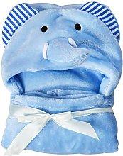 HINMAY Hooded Baby Towel, Soft Coral Fleece Animal