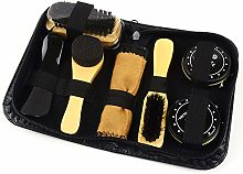 HINMAY Shoe Polish Kit, 7pcs Brush Polish Set with