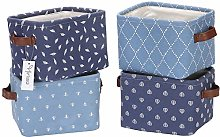 Hinwo 4L Mini Size Nursery Storage Bin Basket