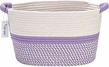 Hinwo Cotton Rope Storage Basket Collapsible